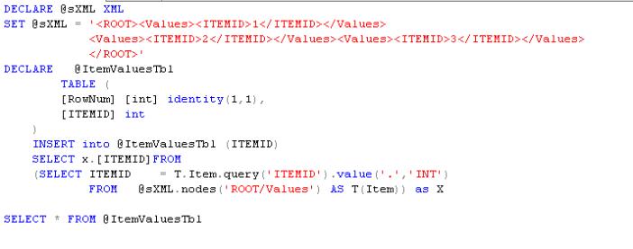 parse xml in sql